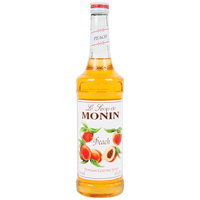 Monin 750 mL Premium Peach Flavoring / Fruit Syrup