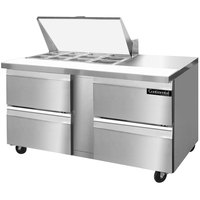 Continental Refrigerator SW60-12M-D 60 inch 4 Drawer Mighty Top Refrigerated Sandwich Prep Table
