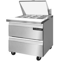Continental Refrigerator SW32-12M-D 32 inch 2 Drawer Refrigerated Sandwich Prep Table