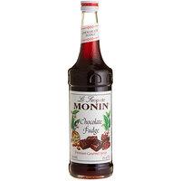 Monin 750 mL Premium Chocolate Fudge Flavoring Syrup
