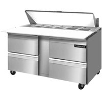 Continental Refrigerator SW60-16C-D 60 inch 4 Drawer Cutting Top Refrigerated Sandwich Prep Table