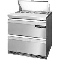 Continental Refrigerator SW32-8-FB-D 32 inch 2 Drawer Front Breathing Refrigerated Sandwich Prep Table