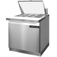 Continental Refrigerator SW32-12M-FB 32 inch 1 Door Mighty Top Front Breathing Refrigerated Sandwich Prep Table