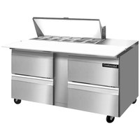 Continental Refrigerator SW60-12C-D 60 inch 4 Drawer Cutting Top Refrigerated Sandwich Prep Table