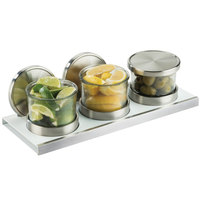 Cal-Mil 3492-4-15HL Luxe Chilled Mixology Organizers with Hinged Lid Set