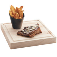 Cal-Mil 3496-1111-71 11 inch Square Maple Steak Serving Board