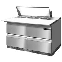 Continental Refrigerator SW48-10C-FB-D 48 inch 4 Drawer Cutting Top Front Breathing Refrigerated Sandwich Prep Table