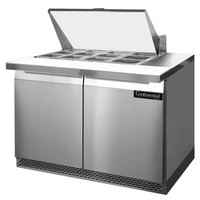 Continental Refrigerator SW48-12M-FB 48 inch 2 Door Mighty Top Front Breathing Refrigerated Sandwich Prep Table