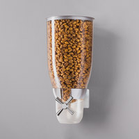 Cal-Mil 3512-1-39 Platinum Wall Mount Turn and Serve 1 Bin Cereal Dispenser - 6 inch x 6 inch x 12 1/4 inch