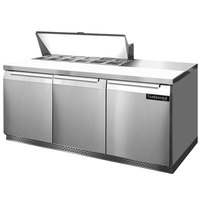 Continental Refrigerator SW72-12-FB 72 inch 3 Door Front Breathing Refrigerated Sandwich Prep Table
