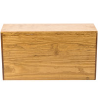 Cal-Mil 166-11-99 Madera Reclaimed Wood Rectangle Plate Riser - 20 1/2 inch x 7 inch x 11 inch