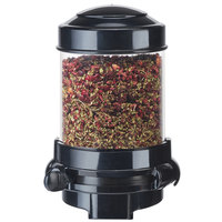 Cal-Mil 3533-1-13 Black Wall Mount 1.5 Liter Tea Leaf and Topping Dispenser - 6 1/8 inch x 7 3/4 inch x 9 1/2 inch