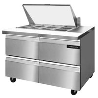 Continental Refrigerator SW48-12M-D 48 inch 4 Drawer Mighty Top Refrigerated Sandwich Prep Table