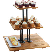 Cal-Mil 3428-99 Madera Rustic Pine 3 Tier Pastry Display Riser - 20 3/4 inch x 20 3/4 inch x 20 inch