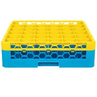 Carlisle RG36-1C411 OptiClean 36 Compartment Yellow Color-Coded Glass Rack with 1 Extender