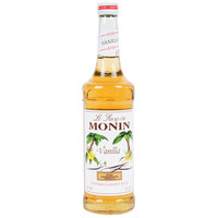 Monin 750 mL Premium Vanilla Flavoring Syrup