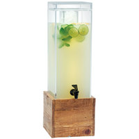 Cal-Mil 1527-3-99 Madera Reclaimed Wood 3 Gallon Beverage Dispenser with Ice Chamber - 8 1/2 inch x 8 1/2 inch x 26 3/4 inch