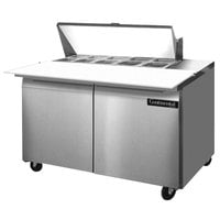 Continental Refrigerator SW48-10C 48 inch 2 Door Cutting Top Refrigerated Sandwich Prep Table