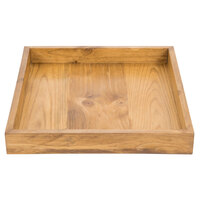 Cal-Mil 3474-99 Madera 13 inch x 12 inch x 1 1/2 inch Reclaimed Wood Coffee Tray