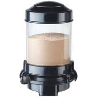 Cal-Mil 3531-1-13 Black Wall Mount 1.5 Liter Powder Dispenser - 6 1/8 inch x 7 3/4 inch x 9 1/2 inch
