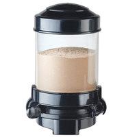 Cal-Mil 3531-1-13 Black Wall Mount 1.5 Liter Powder Dispenser - 6 1/8 inch x 7 3/4 inch x 9 1/2 inch
