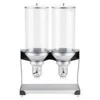 Cal-Mil 3513-2-13 Black Turn and Serve 2 Cylinder Cereal Dispenser - 20 inch x 11 inch x 31 inch