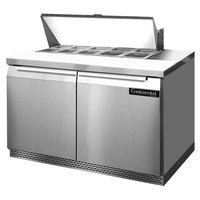 Continental Refrigerator SW48-10-FB 48 inch 2 Door Front Breathing Refrigerated Sandwich Prep Table