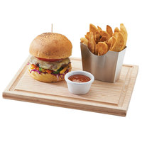 Cal-Mil 3496-1111-21 11 inch Square Oak Burger Serving Board