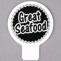 Deli Tag Topper - GREAT SEAFOOD - Black