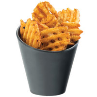 Cal-Mil 3600-65M Faux Slate Concave French Fry Holder - 4 1/4 inch x 4 1/4 inch