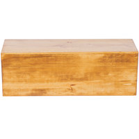 Cal-Mil 166-7-99 Madera Reclaimed Wood Rectangle Plate Riser - 20 1/2 inch x 7 inch x 7 inch