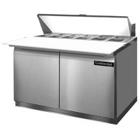 Continental Refrigerator SW48-12C-FB 48 inch 2 Door Cutting Top Front Breathing Refrigerated Sandwich Prep Table