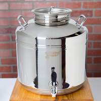 Cal-Mil 3497-3BEV Stainless Steel 3 Gallon Beverage Dispenser - 14 inch x 14 inch x 11 inch