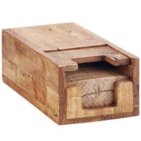 Cal-Mil 2050-99 Madera 9 1/4 inch x 2 1/2 inch x 13 1/2 inch Rustic Pine Coffee Sleeve Dispenser
