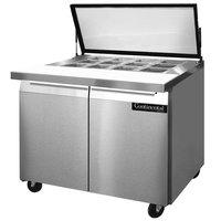 Continental Refrigerator SW36-12M-HGL 36 inch 2 Door Mighty Top Refrigerated Sandwich Prep Table