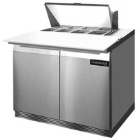 Continental Refrigerator SW36-8C-FB 36 inch 2 Door Cutting Top Front Breathing Refrigerated Sandwich Prep Table