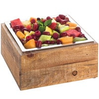 Cal-Mil 3367-99 Reclaimed Wood Cold Concept Cooling Base - 12 inch x 12 inch x 4 1/2 inch