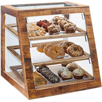 Cal-Mil 3432-S-99 Madera Rustic Pine 3 Tier Slanted Self Serve Bakery Case - 21 inch x 21 1/2 inch x 21 1/2 inch