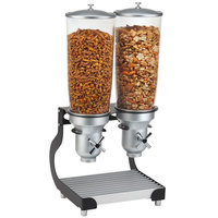 Cal-Mil 3516-2-13 Black Turn and Serve 2 Cylinder Cereal Dispenser - 12 3/4 inch x 11 inch x 25 3/4 inch