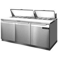 Continental Refrigerator SW72-18-FB 72 inch Front Breathing Sandwich / Salad Prep Refrigerator
