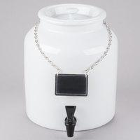 Cal-Mil 3460-1BEV White 1.5 Gallon Porcelain Beverage Dispenser - 10 inch x 10 inch x 11 inch