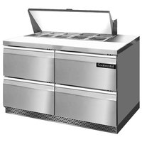 Continental Refrigerator SW48-10-FB-D 48 inch 4 Drawer Front Breathing Refrigerated Sandwich Prep Table