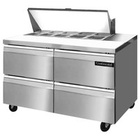 Continental Refrigerator SW48-10-D 48 inch 4 Drawer Refrigerated Sandwich Prep Table