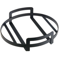 Cal-Mil 3486-15-13 15 inch x 3 1/4 inch Round Black Metal Platter Stand