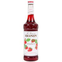 Monin 750 mL Premium Strawberry Flavoring / Fruit Syrup