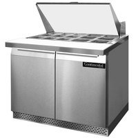 Continental Refrigerator SW36-15M-FB 36 inch 2 Door Mighty Top Front Breathing Refrigerated Sandwich Prep Table