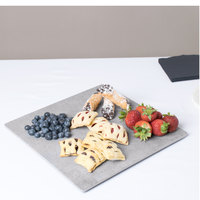 Cal-Mil 1522-1212-77 12 inch Square Faux Cement Serving Platter