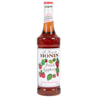 Monin 750 mL Premium French Raspberry Flavoring / Fruit Syrup