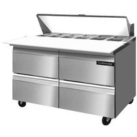 Continental Refrigerator SW48-12C-D 48 inch 4 Drawer Cutting Top Refrigerated Sandwich Prep Table