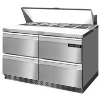 Continental Refrigerator SW48-12-FB-D 48 inch 4 Drawer Front Breathing Refrigerated Sandwich Prep Table
